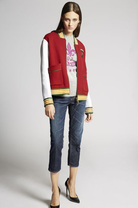 double rib zipped sweatshirt coats & jackets Woman Dsquared2