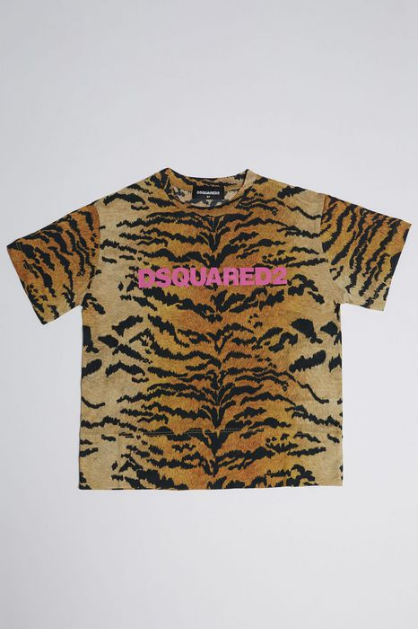 safari print t-shirt tops & tanktops Damen Dsquared2