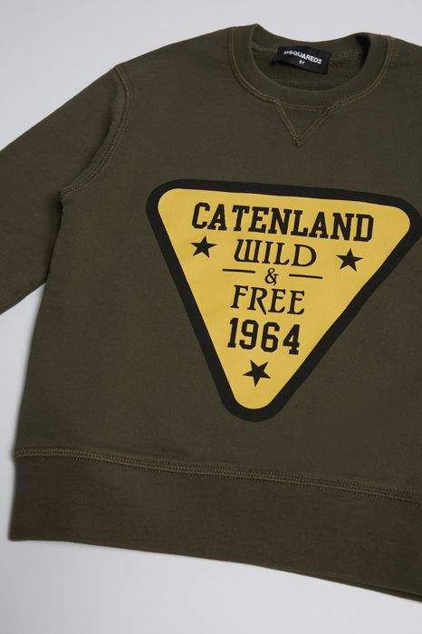 cateland wild sweatshirt tops & tees Man Dsquared2