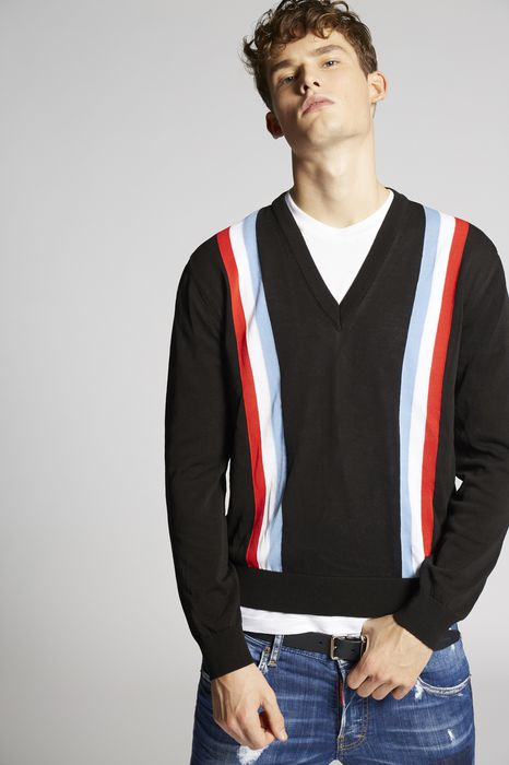 striped cotton pullover  tops & tees Man Dsquared2