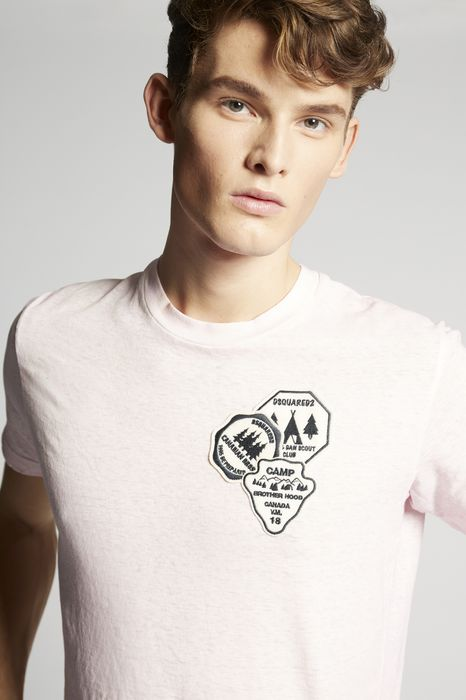 patches t-shirt tops & tees Man Dsquared2