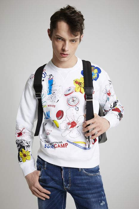 surf camp sweatshirt tops & tees Man Dsquared2