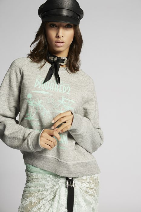 hawaiian dreaming sweatshirt top wear Woman Dsquared2