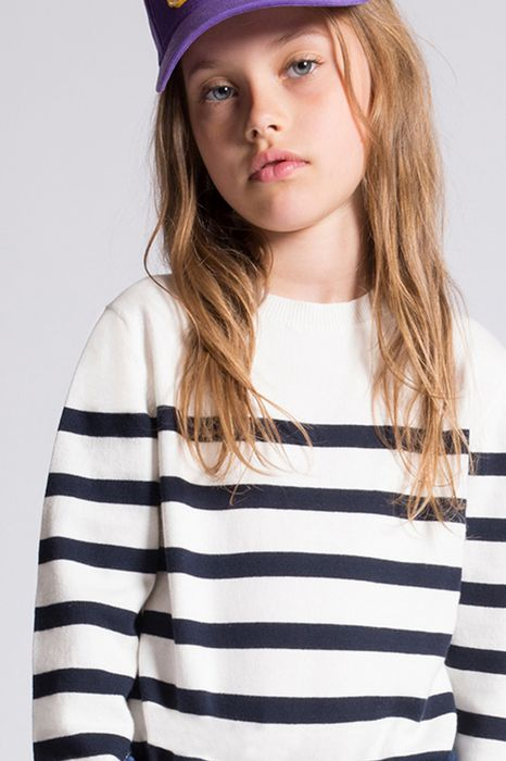 cotton striped pullover tops & tees Woman Dsquared2
