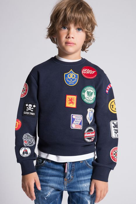 patches sweatshirt tops & tees Man Dsquared2