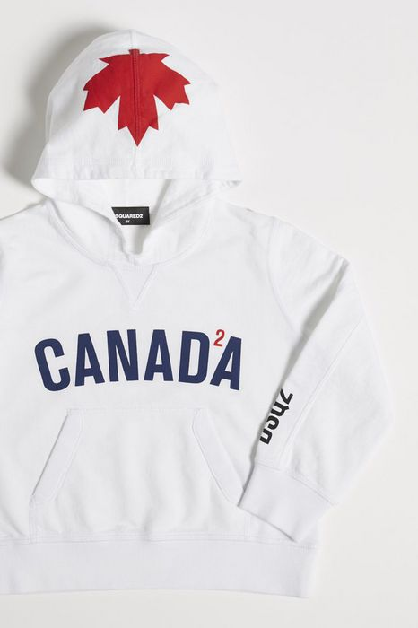 canada hooded sweatshirt tops & tees Woman Dsquared2