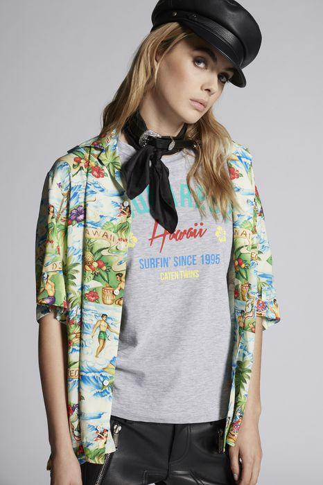 hawaii t-shirt tops & tees Woman Dsquared2
