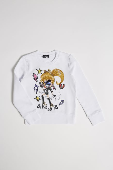 rock girl sweatshirt tops & tees Woman Dsquared2