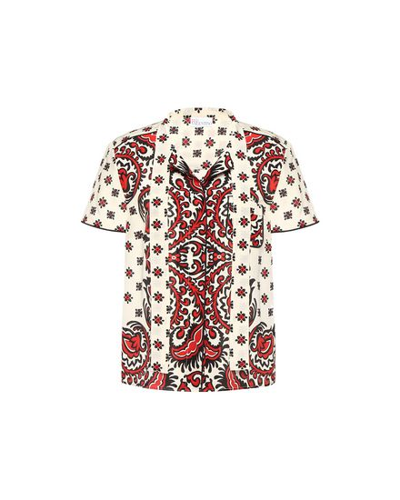 Bandhana 印纹真丝衬衫