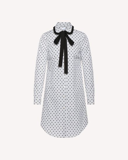 Polka Dot Striped Cotton long shirt