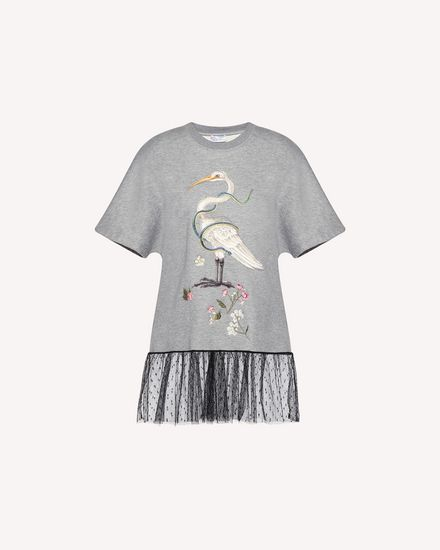 "Maxi-Sweatshirt mit ""Enchanted Bird""-Stickerei"