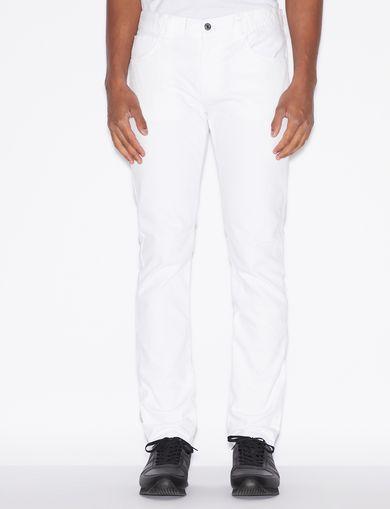 아르마니 익스체인지 청바지 Armani Exchange CLASSIC SLIM-FIT BLACK JEANS,White