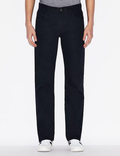 아르마니 익스체인지 Armani Exchange CLASSIC STRAIGHT-LEG BLACK JEANS,Navy Blue