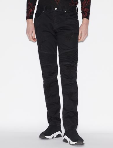 아르마니 익스체인지 Armani Exchange FIVE POCKETS IN STRETCH DENIM,Black
