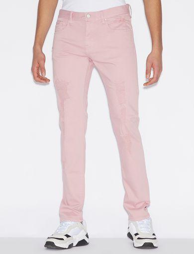 아르마니 익스체인지 Armani Exchange SLIM-FIT FIVE-POCKET JEANS,Pink