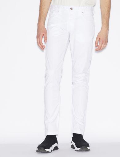 아르마니 익스체인지 Armani Exchange SKINNY FIVE-POCKET JEANS,White