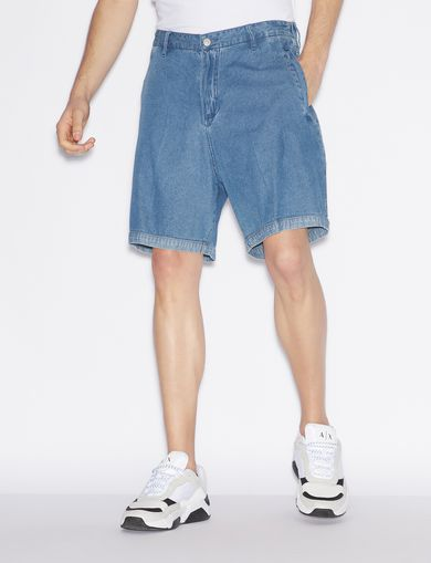 아르마니 익스체인지 Armani Exchange DENIM BERMUDA SHORTS,Blue