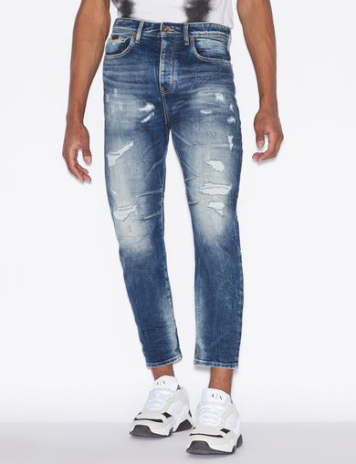 아르마니 익스체인지 Armani Exchange Regular Fit Jeans,Blue