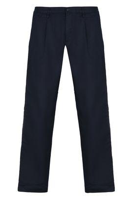 Armani Chino Uomo pantaloni chino in drill di cotone tinta unita