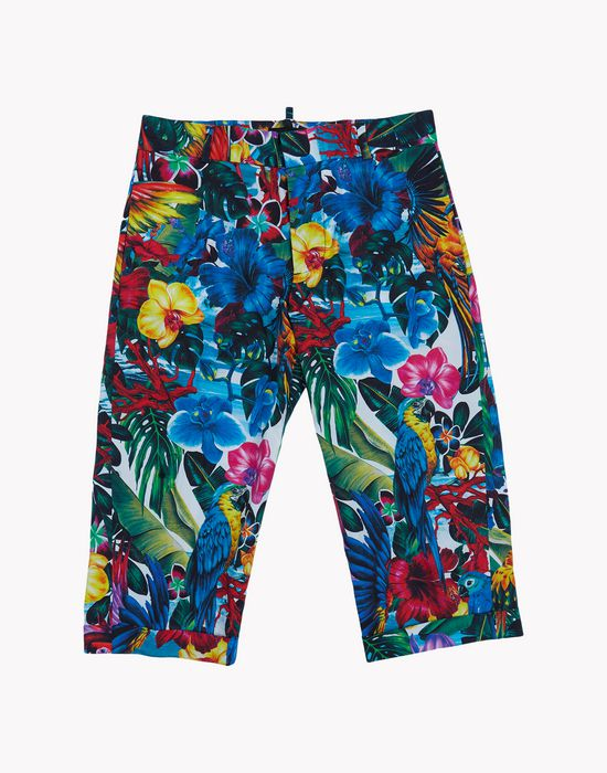 tropical floral pants pants Woman Dsquared2