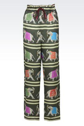 Armani Pantaloncini Donna pantaloni ampi in pura seta con coulisse