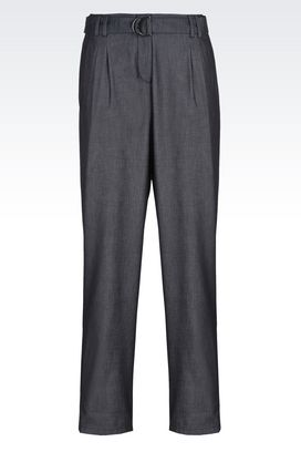 Armani Pants Women denim trousers with double darts