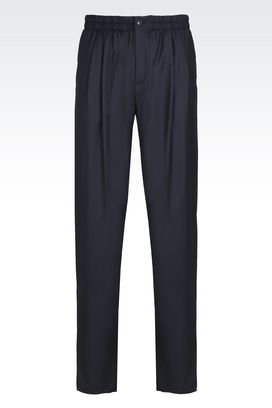 Armani Pantaloni Uomo pantaloni in lana e cachemire