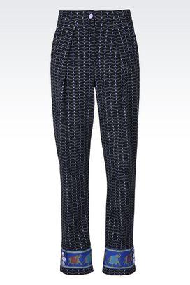 Armani Pantaloni Donna pantaloni in jacquard slim fit