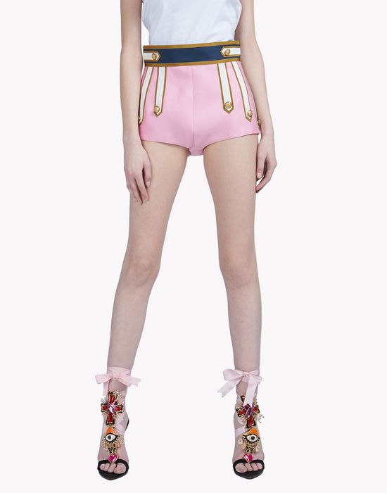 heraldic shorts trousers Woman Dsquared2