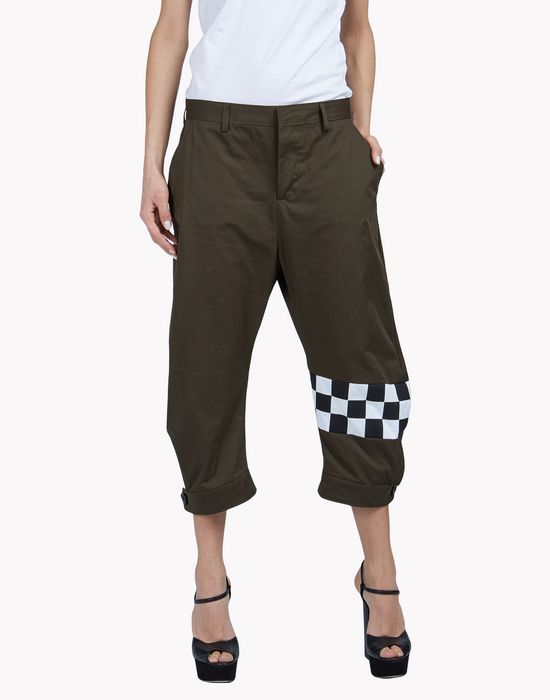 check cargo pants pants Woman Dsquared2