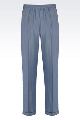 Armani Pantaloni Donna pantaloni in tessuto tecnico dalla linea stretta