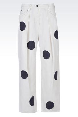 Armani 5 tasche Donna jeans cropped in cotone stretch