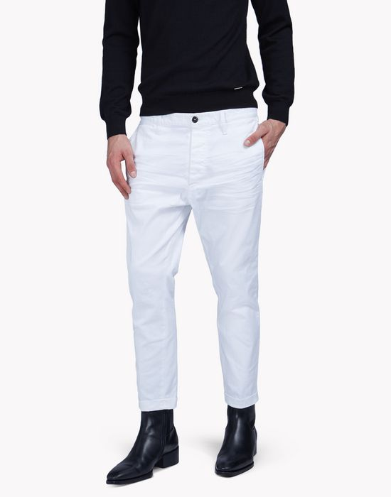 twill cotton hockney pants pantalones Hombre Dsquared2