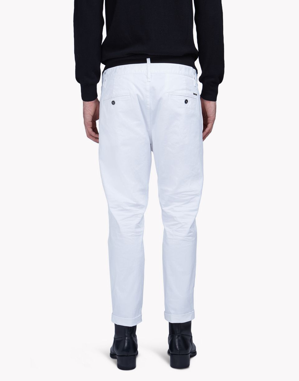 twill cotton hockney pants pants Man Dsquared2