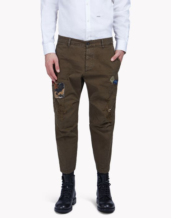 patchwork cargo pants trousers Man Dsquared2