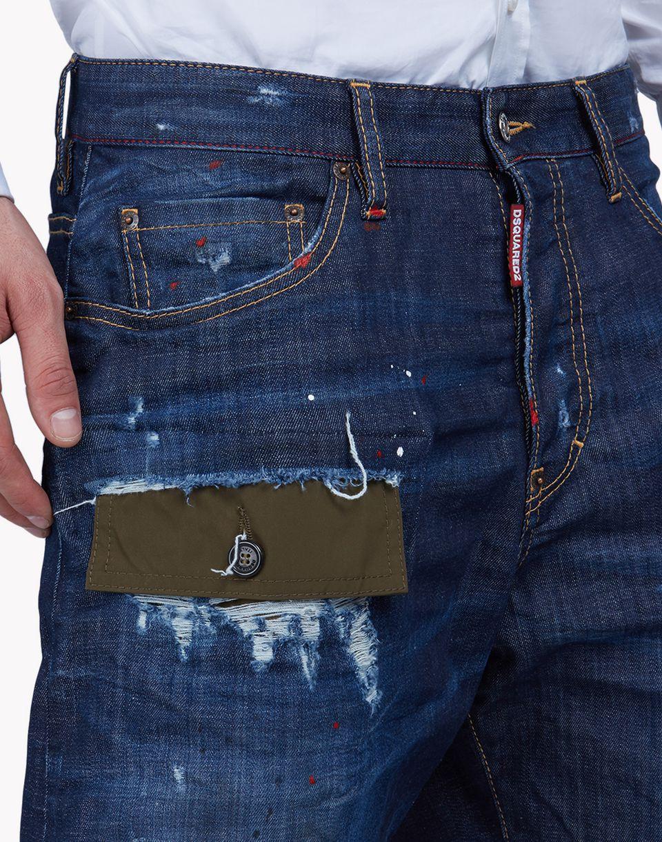 patchwork denim shorts pants Man Dsquared2