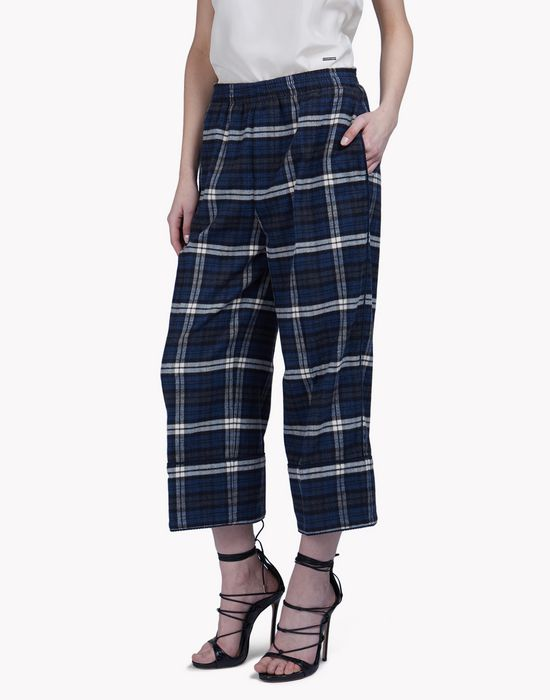 check pyjama pants trousers Woman Dsquared2