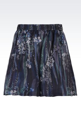 Armani Shorts Women long pure silk organza shorts