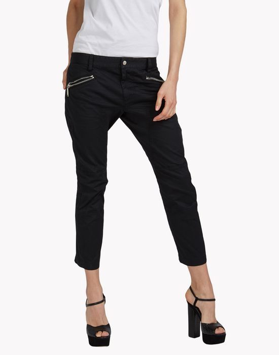 zipped pants trousers Woman Dsquared2