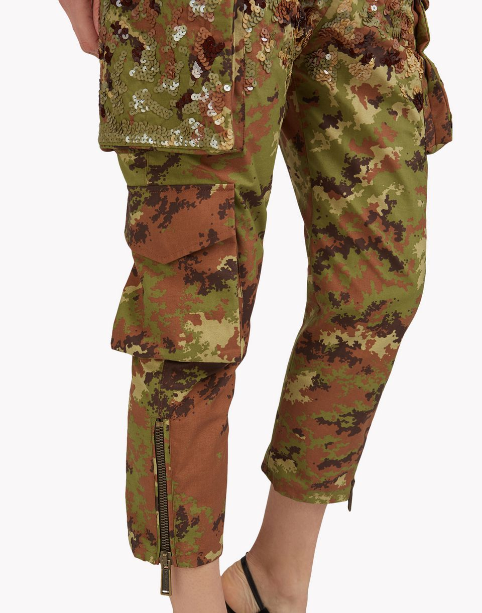 embellished camouflage pants trousers Woman Dsquared2