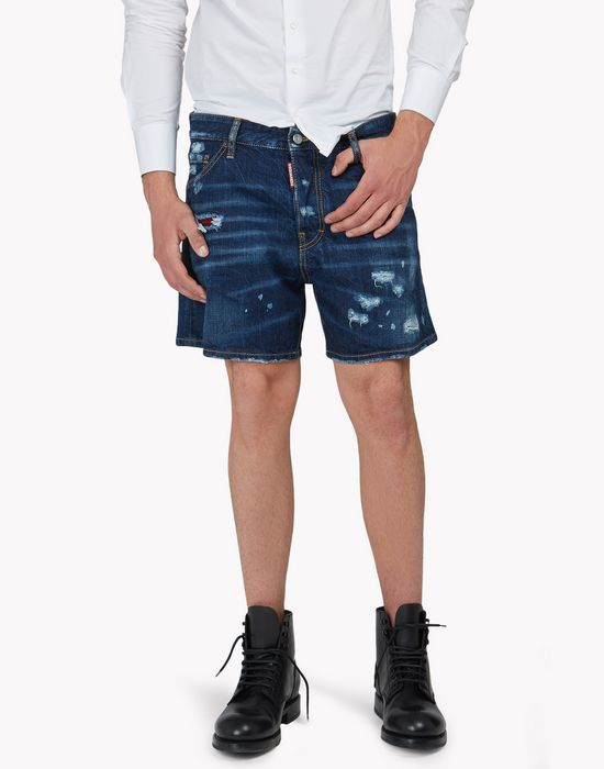denim shorts pantalons Homme Dsquared2