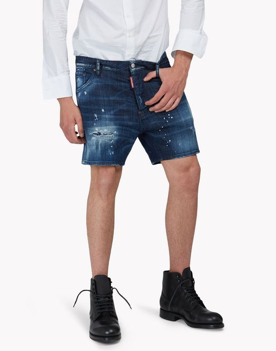 denim shorts trousers Man Dsquared2