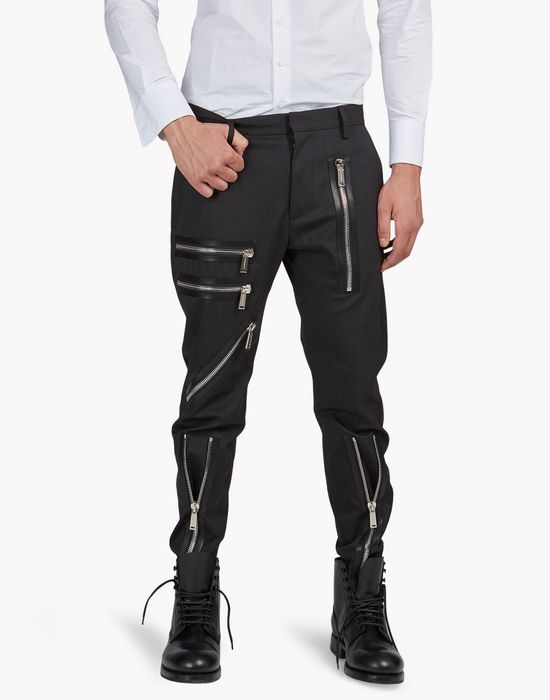 zipped wool pants trousers Man Dsquared2