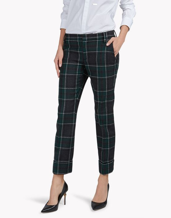 wool tartan pants trousers Woman Dsquared2