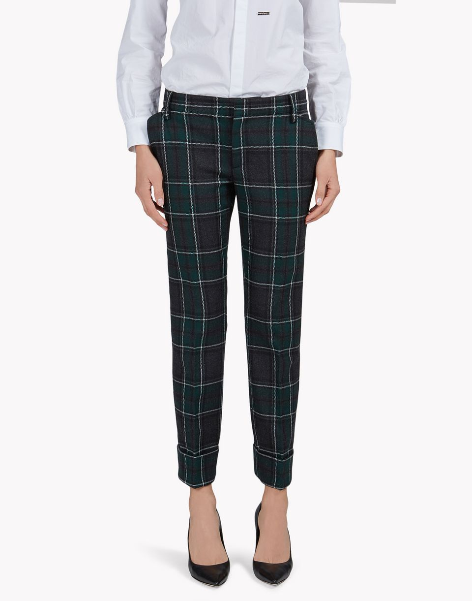 wool tartan pants pants Woman Dsquared2
