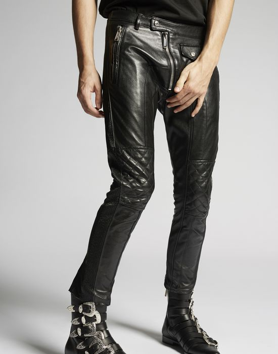 leather biker pants pantalones Hombre Dsquared2