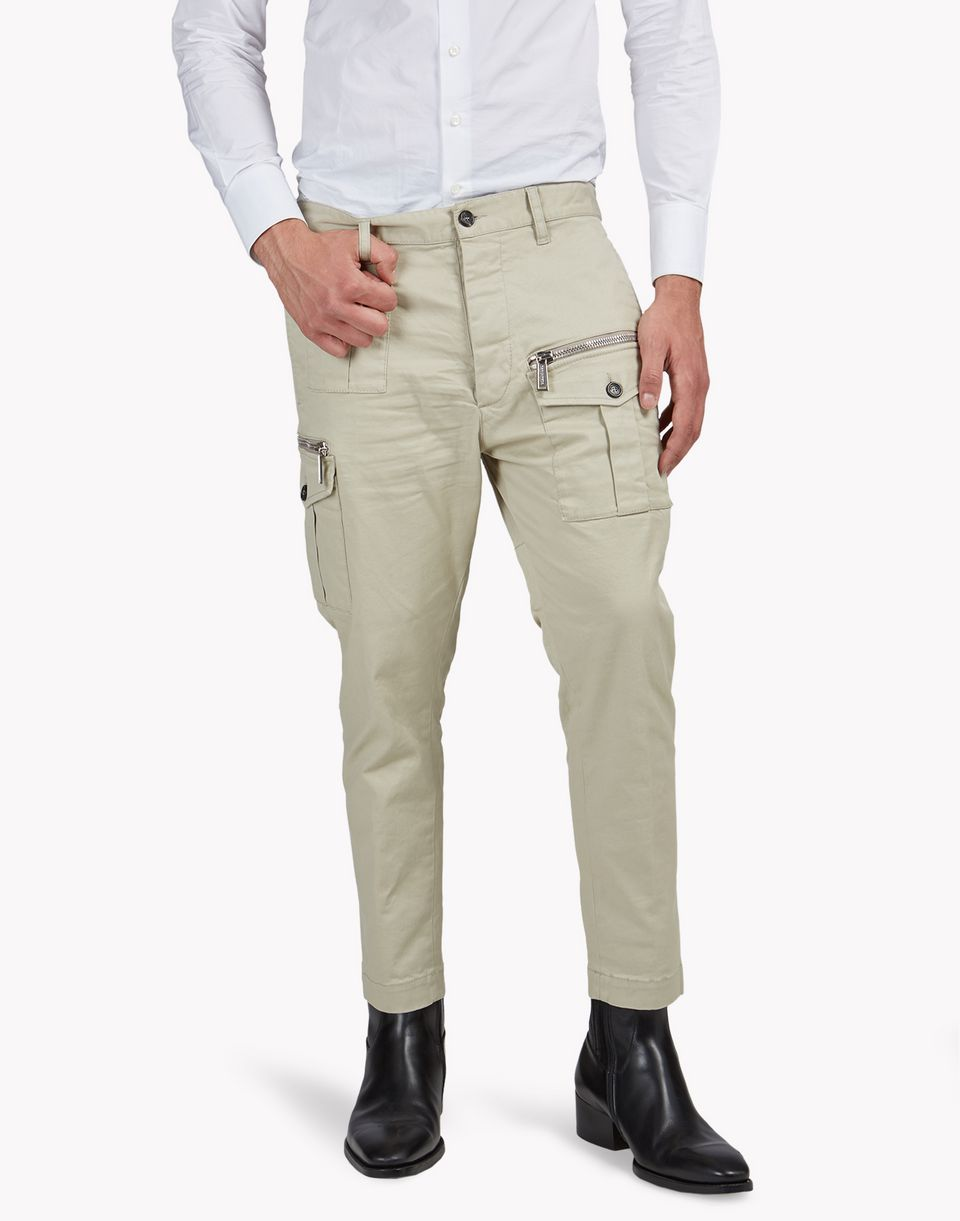 gabardine cargo pants trousers Man Dsquared2