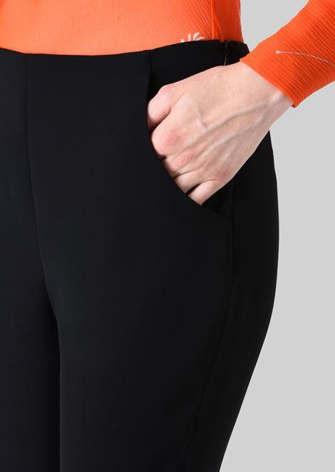CLASSIC SILK CADY SWEATPANTS: Pants Women by Armani - 5