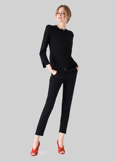 CLASSIC SILK CADY SWEATPANTS: Pants Women by Armani - 3