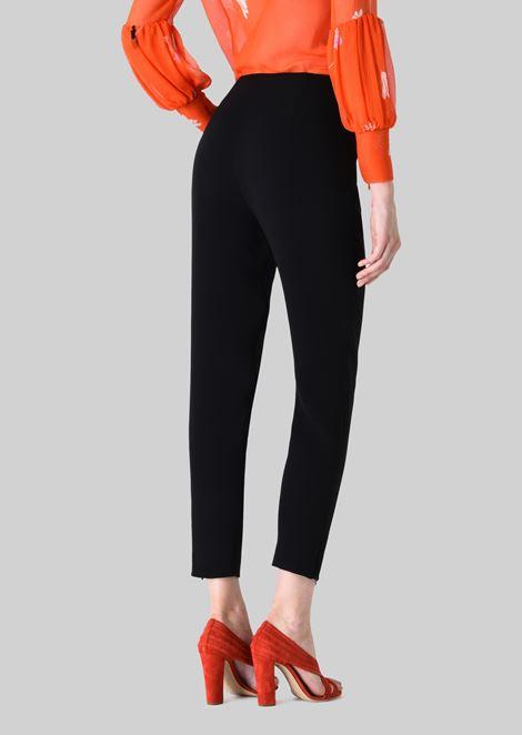 CLASSIC SILK CADY SWEATPANTS: Pants Women by Armani - 4